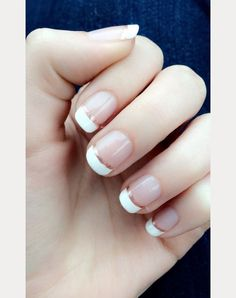 rose gold french manicure bridal nails