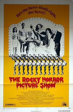 The Rocky Horror Show 1975 Style B. US One Sheet Original Vintage Movie Poster