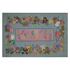 Fun Rugs Supreme TSC-057 Teddies and Letters Area Rug - Multicolor - TSC-057 3958