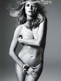 Heidi Klum Nude Photo Shoot For Allure Magazine Post Spilt