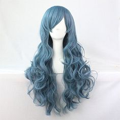 TLT 27.5 Women's Full Wig Long Curly Hair Heat Resistant Wigs Harajuku Style Hair Wigs Costume Wigs for Cosplay/Party BU043BL by TLTSHOPS -- Awesome products selected by Anna Churchill
