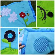 A few weeks ago I made this baby play mat for SYTYC. Do you ever envision something great in your head? You think it will be the most bril. Sewing For Kids, Diy For Kids, Sewing Ideas, Sewing Tutorials, Tummy Time, Baby Play, Baby Crafts, Diy Christmas Gifts, Baby Items