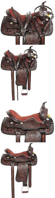 Saddles 47291: 15 16 17 18 Black Barrel Racing Pleasure Trail Western Leather Horse Saddle Tack -> BUY IT NOW ONLY: $284.99 on eBay!