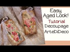 Easy:Jars with fast aging! Βαζάκια με γρήγορη παλαίωση! Frascos con rápido envejecimiento! - YouTube Decoupage, Ethnic Recipes, Crafts, Georgia, Food, Decoration, Youtube, Painting, Ageing