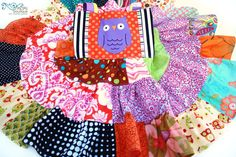 Happy Halloween Hoot patchwork  OOAK & ready to ship