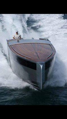 Wood luxury speed boat