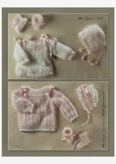 Lanas Stop Babies Nr 109. FREE ACCESS (Download enabled on Issuu, 60 Mb pdf file). A compilation of baby knits. Truly incredible album with 100 different layettes and full instructions in Spanish, English and French. Over 200 pages. Level: Intermediate/Advanced, but you learn A LOT and can pick up beautiful stitches, etc. for simpler projects. Details and finishing. Beautiful!!!