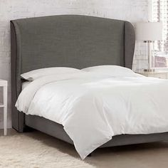 Waveland Upholstered King Bed in Slate