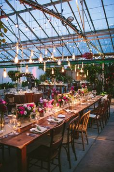 Real Wedding at the Philadelphia Horticulture Center . Styling + Florals: Uncommon Events . Photography: Lauren Fair Photography . Food: Starr Events