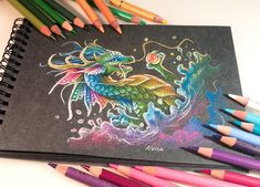 Dragons and other Mythical Magical Creatures in Fantasy Drawings Cute Animal Drawings, Cool Drawings, Fantasy Drawings, Fantasy Art, Dibujos Tumblr A Color, Pokemon, Dragon Sketch, Creature Drawings, Cute Dragons