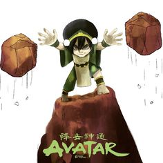 I don't know! I mean seriously, what's with you people? I am blind! #Avatar. #Toph #Tierra #thelastairbender #illustration #Ilustracion #Draw #Ground #Green #Rock (en Guadalajara, Jalisco)