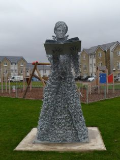 Athena Grange Sculpture by Scottish artist Andy Scott. 2.2 metre high, it is designed to commemorate 81 residents of the town who were executed for witchcraft in the 16th century. Prestonpans, England