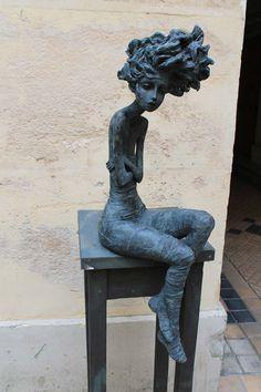 """more from Valerie Hadida"" Steel Sculpture, Art Sculpture, Bronze Sculpture, Plastic Art, Inspiration Art, Paperclay, Art Plastique, Oeuvre D'art, Ceramic Art"