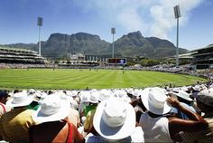 Newlands Cricket Grounds ... where in the world can you watch cricket with a view like that!