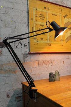 Superlux Large Desk Lamp good for Task Lighting Industrial Home Offices, Industrial Interior Design, Vintage Industrial Decor, Office Interior Design, Office Interiors, Industrial Style Lighting, Anglepoise, Large Desk, Task Lighting