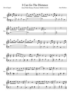 HERCULES - I Can Go The Distance - Free piano sheet music