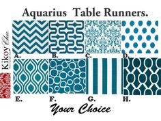 Blue Table RunnerAquarius Table Runner.Aquarius & by KikoyChic, $18.00