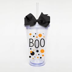 Halloween Fall Boo  Acrylic Tumbler Personalized by SweetSipsters