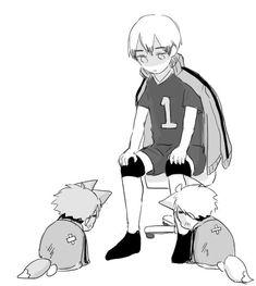 Haikyuu Manga, Haikyuu Funny, Haikyuu Fanart, Anime Chibi, Manga Anime, Haikyuu Volleyball, Volleyball Anime, Miya Atsumu, Haikyuu Wallpaper