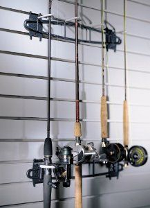 SCHULTE 7115-5050-50  Fish Hook, Granite Gray by Schulte. Save 5 Off!. $43.32. From the Manufacturer                The Fish Hook activity organizer mounts to the Wire Grid to create a space saving storage area. The hook stores 4 rods with reels vertically, eliminating clutter in the garage and protecting equipment. The rack is constructed of heavy duty steel with a durable, epoxy coating. Available in granite. 21.75Wx4.75Hx4.5D.                                    Product Description   ...