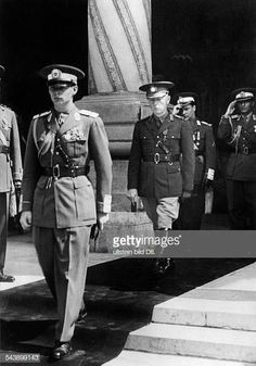 Romania The King Michael And The Marshall Ion Antonescu In September 1940 Michael I Of Romania, Romanian People, Romanian Royal Family, Peles Castle, The Marshall, Central And Eastern Europe, Serial Killers, World History, Ww2