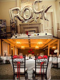 Déco simple à mettre en place pour un mariage rock #B4wedding #mariage #wedding #rock