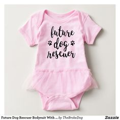 Future Dog Rescuer Bodysuit With Tutu