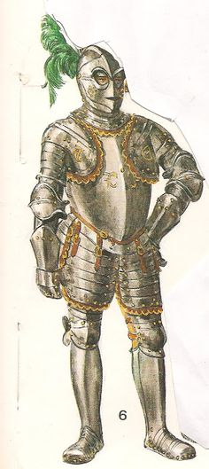 """No. 6-armor Italian mid 1600, with the so-called typical helmet                                                     """"to the Savoyard """". This armament fitted to the troops of Charles-                                                      Enmanuele of Savoy, destroyed in front of Genoa in 1602."""