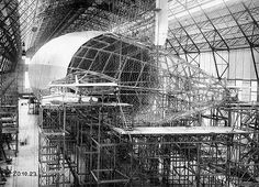 View of the tail before application of the linen covering, October 20, 1923 LZ 126