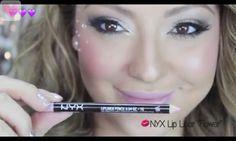 """NYX Lip Liner """"Flower"""" eye makeup"""