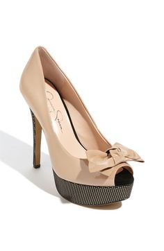 Jessica Simpson 'Para' Pump...nude shoes with a twist!