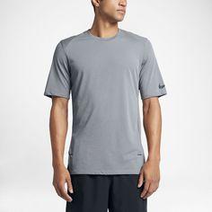 Nike Elite Men's Short Sleeve Basketball Top Size Medium (Grey)