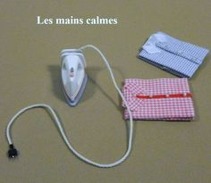 Miniature steam iron - tutorial for the dollhouse laundry and sewing room