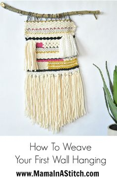 Learn to weave! Check out this How To Weave Simple Wall Hanging Tutorial by Mama in a Stitch and give it a try with the new Martha Stewart Crafts DIY Weaver!
