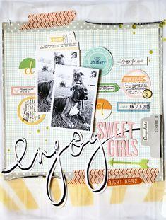 #papercraft #scrapbook #layout Mandy Koeppen - Enjoy Page
