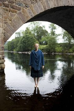 Tilda Swinton. Appropriately walking on water.