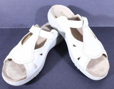 HOTTER Size 9M MIRAGE White Leather Sandals Made In England  7UK  41EU #Hotter #sandal #Casual