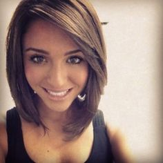 long angled straight bob cut - Google Search