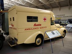 Bata ambulance from East Tilbury, Frazer Nash build 1941 Police Truck, Police Cars, Ambulance, New Television, Battle Of Britain, Search And Rescue, Emergency Vehicles, Fire Engine, Commercial Vehicle