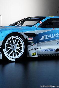 Blue Race Car