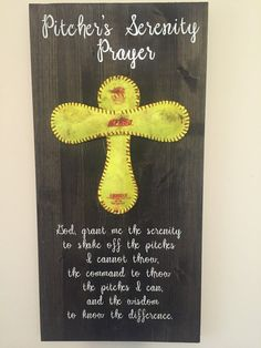Sofball Pitcher's Serenity Prayer sign by MearsCreations on Etsy Softball Crafts, Softball Bows, Softball Coach, Softball Shirts, Softball Players, Girls Softball, Fastpitch Softball, Lacrosse, Softball Stuff