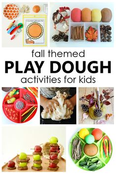 Preschool Art Projects, Playdough Activities, Preschool Lesson Plans, Preschool Learning Activities, Preschool Themes, Fun Learning, Preschool Centers, Apple Theme, Autumn Theme