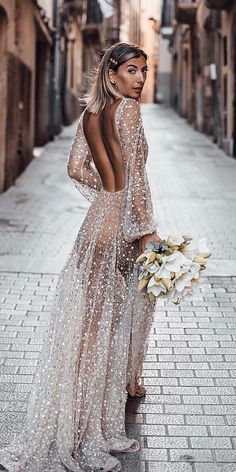 24 Top Wedding Dresses For Bride ❤️ top wedding dresses open back with nude . 24 Top Wedding Dresses For Bride ❤️ top wedding dresses open back with nude illusion sleeves for beach chosen by one day ❤️ Full gallery: weddingdressesgui. Top Wedding Dresses, Wedding Dress Sleeves, Beach Dresses, Day Dresses, Evening Dresses, Prom Dresses, Dress Beach, Modest Wedding, Bride Dresses