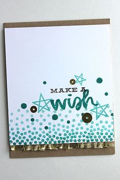 Make A Wish Card by Heather Nichols for Papertrey Ink (June 2015)