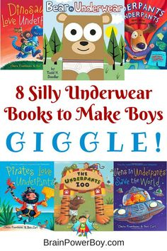 There is just something about underwear that gets boys snickering and giggling. Try these 8 fun underwear picture books for silly reading time fun.
