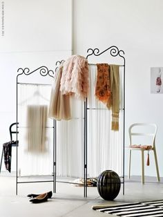 Three Ideas To Use Clothes For Decoration Also, Dressing Privacy