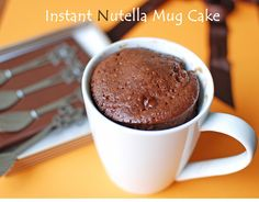 2 minutes Nutella Microwave Mug Cake; I'll try this one.