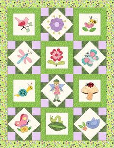 Pixie Garden Quilt Free 2013 applique bOM. I guess the month will be to short haha!All those lovely boms!!