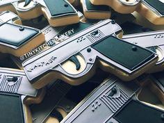 Walther PPK cookie - James Bond gun cookie - 007 gun cookie    Www.facebook.com/tinykitchencakery