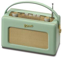 Roberts Radio Analogue FM radio in duck egg